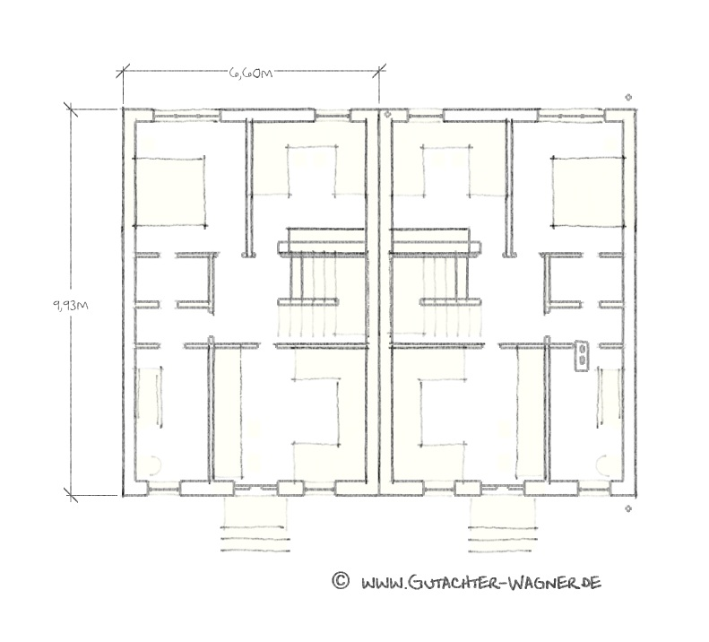 Ddr eigenheim typ rh2 reihenhaus sachverst ndigenb ro for Eigenheim grundrisse
