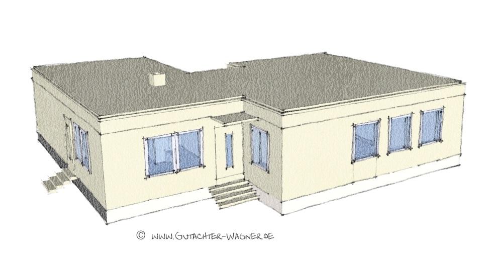 frei stehendes DDR Einfamilienhaus Typ ZV-1 in Massivbauweise. Projektiert vom VEB WGK Frankfurt Oder in Schwedt